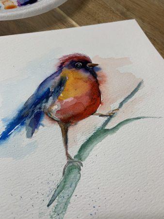 Krjanina Watercolor Art Birds Collection